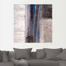 artland wandbild blau silber abstrakt i muster 1 st in vielen größen produktarten alubild outdoorbild für den außenbereich leinwandbild
