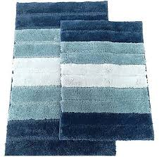 Royal Blue Bath Mat Set by Bathmats Rugs And Toilet Covers 133696 2 Piece High Top Striped