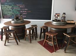 Wine Barrel With Table Overlay