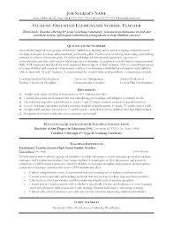 Resume Of Teacher Sample A Teachers Examples