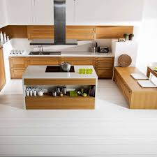 cuisine bois blanchi tendance blanc ou bois pour ma cuisine côté maison