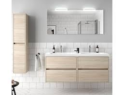 badezimmer badmöbel 140 cm aus braun caledonia holz mit mineralguss waschtisch zubehör standard abmessungen 140 cm