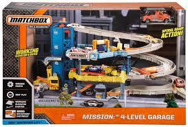 matchbox mission 4 level garage playset toys