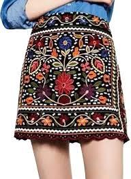 women u0027s floral embroidered zip a line mini skirt azbro com