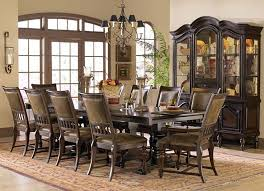 Wooden Rustic Design Of Formal Dining Room Sets For 8 With Big Hutch