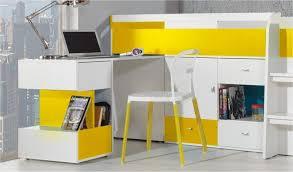 lit enfant bureau lit combine avec bureau coulissant et commodes yello mobiler