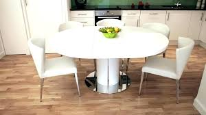 Round Extension Table Tables White Gloss Extending Dining And Chairs Sale