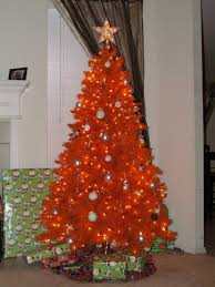 Pix For Orange Christmas Trees