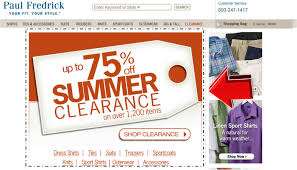 Paul Fredrick July Promotion 75% Off Summer Clearance ...