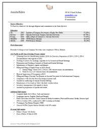 Company Secretary Resume Sample Doc