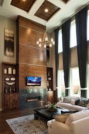 Dark Drapery Window Treatment For A Dramatic Living Room