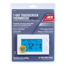 Easy Heat Warm Tiles Thermostat Programming by Thermostats Programmable U0026 Digital Thermostats At Ace Hardware