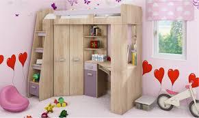lit bureau armoire lit en hauteur combiné avec bureau armoire et rangement intégré