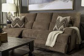 power reclining plush 97 sofa in brown mathis brothers furniture