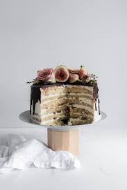 Fig And Almond Layer Cake Jocunde Sponge Layered With Amaretto Syrup Orange Blossom