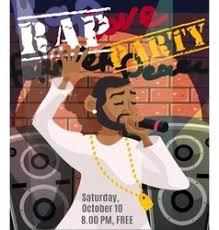 Rap Concert Poster Vector Image