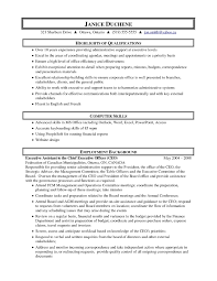 sle executive assistant resume objective resume objective