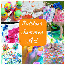 15 Super Fun Outdoor Summer Art Projects For Kids