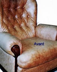 renovation cuir canapé service de recoloration du cuir