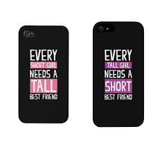 Amazon BFF Phone Cases Tall and Short Best Friend Phone
