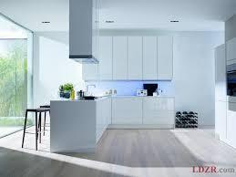 White Gloss Kitchen Design Ideas by Kitchen Modern White Kitchen Design Ideas With Lighted Backsplash