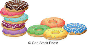 Doughnuts Illustration of colorful donuts