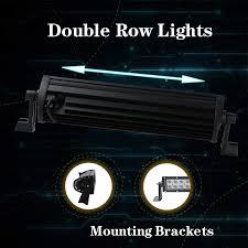 100 Work Lights For Trucks 2PCS 6 Inch 36W LED Light Bar Spot Beam High Power 6000K