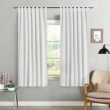 ckny vorhang blickdicht verdunklungsvorhänge thermal schals mit schlaufen gardinen für schlafzimmer wohnzimmer weiß 175 x 130cm h x b 2er set