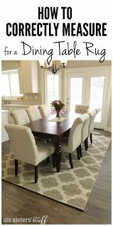 Dining Room Rugs Luxury How To Correctly Measure For A Table