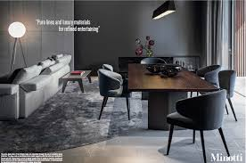 100 Minotti Dining Table Special 9 Pages Ad Campaign In Oct Wallpaper
