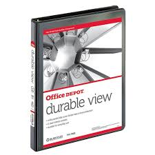 OfficeMax Durable View Binders With Round Ring 1/2