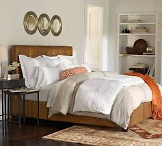 Pottery Barn Raleigh Bed by Lorraine Tufted Leather Bed U0026 Headboard Pottery Barn Just