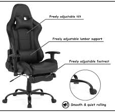 Ergonomic Racing Gaming Chair With Footrest, Black - Moustache® Akracing Premium Masters Series Chairs Atom Black Edition Pc Gaming Office Chair Abrocom Fniture Emperor Computer Cow Print Desk Thunderx3 Tgc25 Blackred Brand New Tesoro Gaming Break The Rules Embrace Innovation Merax Highback Ergonomic Racing Red Dxracer Official Website Support Manuals X Rocker Ultimate Review Of Best In 2019 Wiredshopper Nzxt Vertagear Sl2000 Rev 2 With Footrest Moustache Titan 20 Amber