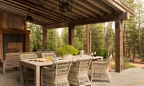 Outdoor Dining Room Striking Ideas Fireplace 1