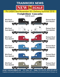 N Scale Freightliner Cascadia Tractors