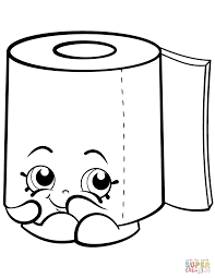 Sweat Leafy Roll Of Toilet Paper Shopkin Slick Breadstick With Mustache From Shopkins Season 2