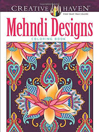 Creative Haven Mehndi Designs Collection Coloring Book Adult