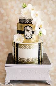 Cake Decoration Ideas With Gems by Unconventionally Beautiful Black And Gold Wedding Cakes