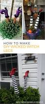 Halloween Witch Yard Stakes by How To Make Wicked Witch Legs U2022 Grillo Designs