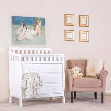 Baby Changer Dresser Combo by Storkcraft Crescent 4 Drawer Chest Multiple Finishes Available