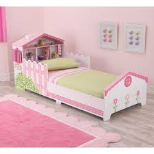 Dollhouse Pink and White Toddler Bed Free Shipping Today
