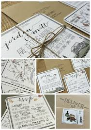 Hand Illustrated Wedding Invitation Suite For A Rustic Homemade Barn In The Hudson Valley