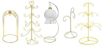 Ornament Hangers And Display Stands Include Single Hook Multiple Attractive Metal Designs Have Bright Brass Or Chrome Finish