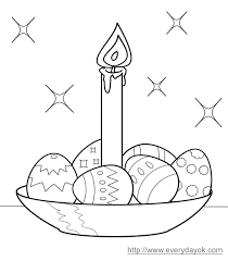 Easter Eggs Colouring Template