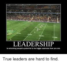 True Leadership And Demotivational Posters 30 LEADERSHIP Is Unlocking Peoples Potential To Be Bigger Assholes Than You Are