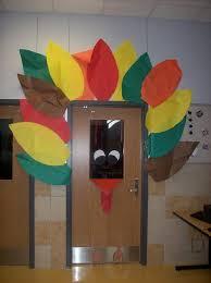 thanksgiving turkey classroom door decoration