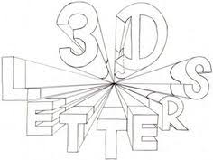 How to Draw 3 Dimensional Letters in e Point Perspective