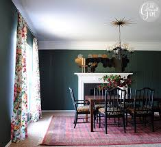 Dining Room Updates Floral Curtains2
