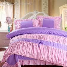 Wholesale Purple Pink Polka Dot Girls Bedding forter Sets100