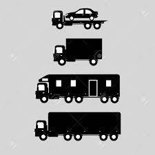 Delivery Trucks - Evacuator, Trailer, Trucks. Icon Cars. Royalty ...